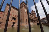 foto of ferrara  - old Estense Castle in Ferrara in Italy - JPG