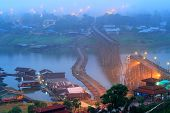 ������, ������: The Old Wooden Bridge Bridge Collapse Bridge Across The River And Wood Bridge mon Bridge at Sangkl