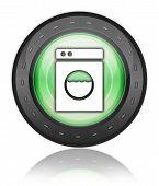 foto of laundromat  - Icon Button Pictogram Image Illustration with Laundromat symbol - JPG