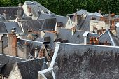 image of anjou  - Roofs of Chinon town Vienne valley France - JPG