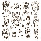 picture of african mask  - African Masks set - JPG