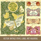 image of art nouveau  - Vector vintage items - JPG