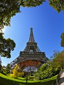 foto of arch foot  - Huge and beautiful Eiffel Tower - JPG
