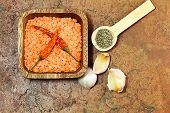 stock photo of temperance  - Red lentils with it - JPG