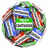 pic of competing  - Contender word on name badges - JPG