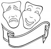 foto of comedy  - Comedy and Tragedy theatrical mask - JPG
