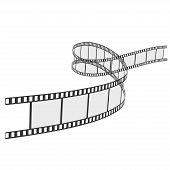 foto of strip  - vector film strip isolated on white background - JPG