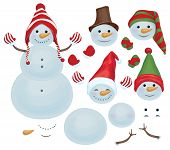 image of snowman  - Fun snowman templates - JPG