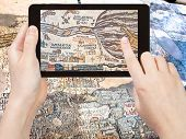 pic of cartographer  - travel concept  - JPG