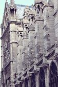 picture of notre dame  - Architectural details of Cathedral Notre Dame de Paris - JPG