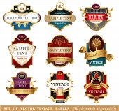 picture of aristocrat  - Ornate vintage luxury  labels - JPG