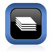 picture of gage  - layers square glossy icon gages sign  - JPG