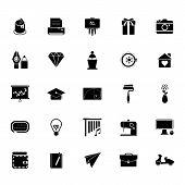 image of fibonacci  - Art and creation icons on white background stock vector - JPG