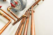 picture of boiler  - copper pipes engineering in boiler - JPG