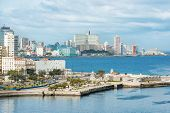 image of malecon  - The city of Havana on a beautiful summer day - JPG