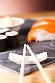 picture of souse  - sushi set with rolls - JPG