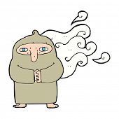 picture of smelly  - cartoon smelly monk - JPG