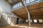 image of warehouse  - Empty warehouse office or commercial area - JPG