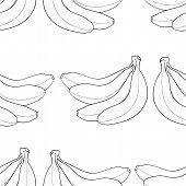 image of bunch bananas  - Background of bunch of bananas on white background in the Delightful garden collection - JPG