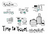 image of time flies  - Time to Travel doodle  - JPG