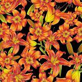 Постер, плакат: Pattern of lilies