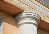 pic of academia  - fragment of ancient column of a historic building close - JPG