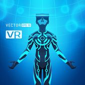 picture of nano  - Man in a virtual reality helmet - JPG