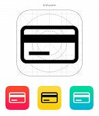 stock photo of magnetic tape  - Credit card magnetic tape icon - JPG