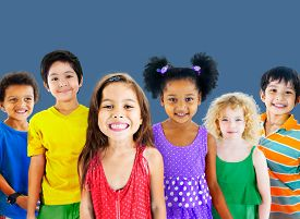 foto of diversity  - Kids Children Diversity Happiness Group Cheerful Concept - JPG