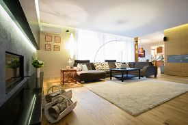 picture of enormous  - Enormous bright lounge with big comfortable sofa - JPG