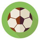stock photo of physical education  - Flat Sports Ball Soccer Football - JPG