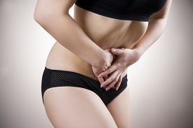 foto of abdominal  - Woman with abdominal pain - JPG
