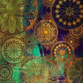 Постер, плакат: Искусство цветочные гранж фоновый узор