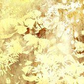 Постер, плакат: Искусство цветочные гранж графический фон