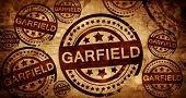 Постер, плакат: garfield vintage stamp on paper background