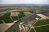 Aerial of Produce fields