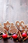 stock photo of christmas spices  - Christmas cookies with spices  - JPG
