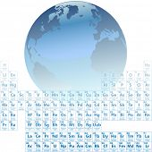 Scientific Earth is made of atoms with an accurate Periodic Table of the Elements. poster