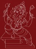 picture of laddu  - Ganesh the Hindu God giving Blessing - JPG