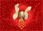 stock photo of laxmi  - Wealth Goddess Laxmi giving Wealth - JPG