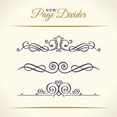 New Calligraphic Page Dividers and Elements of vintage ornament. Elements set for retro logos and ve poster