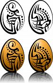 Easter Egg Tribal Tattoo set