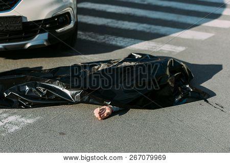High Angle View Of Corpse