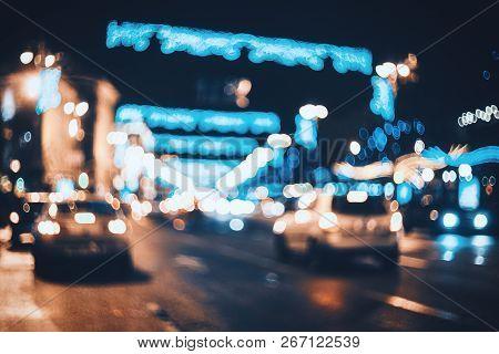 Blurred City At Night Bokeh