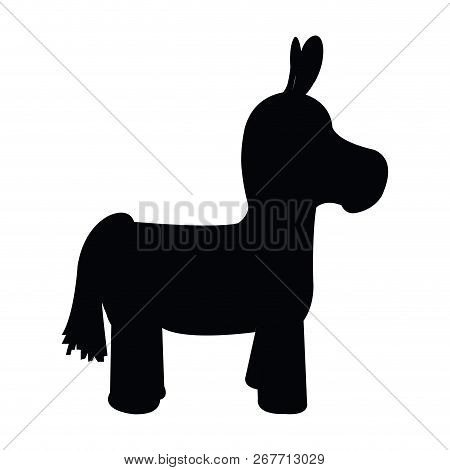 image regarding Donkey Pinata Template Printable referred to as Donkey Pinata Icon. Cinco De Mayo. Vector Instance Design and style poster