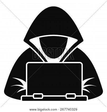 Hacker Laptop Icon Simple Illustration