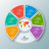 Vector Abstract 3d Paper Infographic Elements.circular Infographics poster