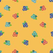 Red Yellow Blue Hibiscus Handdrawn Seamless Pattern. Great For Fabric, Wallpaper, And Scrap Booking. poster