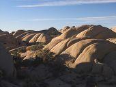 Weathered Granite In The Desert poster
