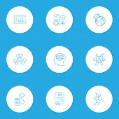 Education Icons Line Style Set With Self Study, Meteorology, Ecology And Other Grade Paper Elements. poster
